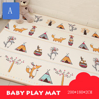 ZXZ Baby Play Mat XPE Carpet Thickening Toy Crawling Puzzle Mat 200*180*2CM Kids Mat For Infants Play Mat Gym