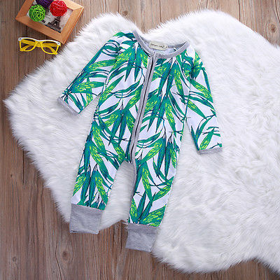 2016 baby boys girls romper bamboo print toddler long sleeve infant clothing rompers fashion cotton unisex zipper romper newborn baby rompers baby clothing 100% cotton infant jumpsuit ropa bebe long sleeve girl boys rompers costumes baby romper