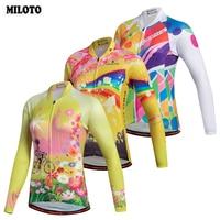 MILOTO Long Sleeve Cycling Jersey Tops Women S Mountain Bike Bicycle Jersey Ladies Cycling Shirts Spring