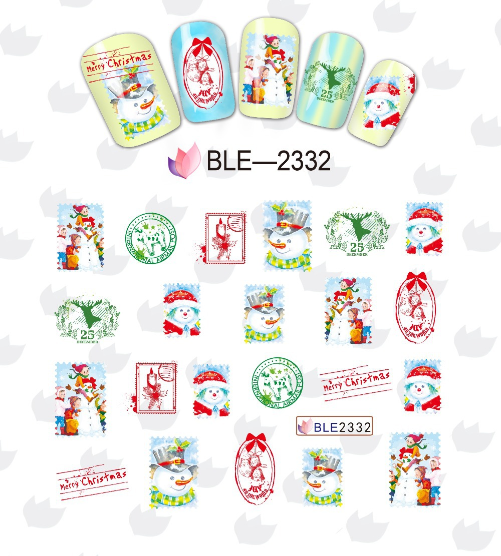 Aliexpress.com : Buy 1 set 11 designs Christmas Nail Decals Water ...