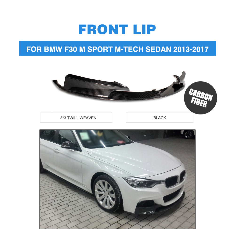 Carbon Fiber / FRP Front Lip Chin Spoiler Apron For BMW 3series F30 M Tech M Sport Bumper 2013-2017