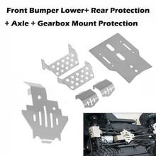 6 개/대 앞 범퍼 Lower + Axle + Gearbox Mount Protection TRX4 용 스키드 플레이트 New Arrival Dropshipping