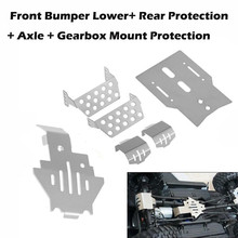 6pcs/set Front Bumper Lower+Axle+Gearbox Mount Protection Skid Plate for TRX4  New Arrival Dropshipping
