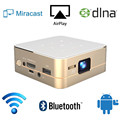 New Smarter Mini HD Projector 1000 Lumens 4500:1 Portable Built in 2600mAh Battery Android Wifi Bluetooth HDMI USB