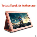 2016 Newset  High quality fashion teclast tbook16s /tbook 16s leather case cover with Stand up function Cover free shipping