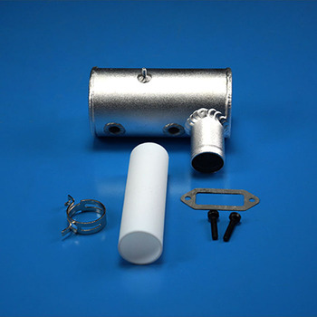 1Set DLE 170 Engine Duable Hole Exhaust Pipe+PTFE Tube+Pipe Clamp+Washer+Screw Spare Parts for RC Aircraft Model