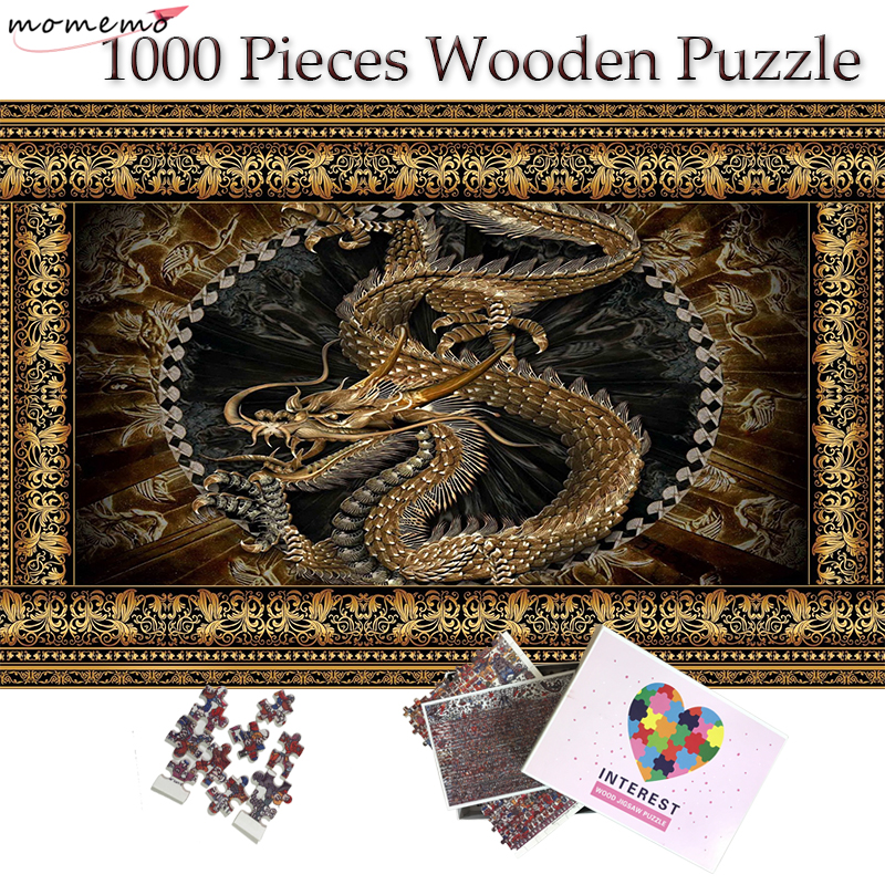 MOMEMO Chinese Dragon Wooden Plane Jigsaw Puzzle 1000 Pieces Puzzle for Adults 1000 Pieces Wooden Puzzle Toys Kids Teens Gifts in Puzzles from Toys Hobbies