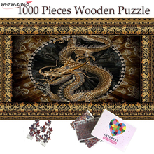 MOMEMO Chinese Dragon Wooden Plane Jigsaw Puzzle 1000 Pieces Puzzle for Adults 1000 Pieces Wooden Puzzle Toys Kids Teens Gifts