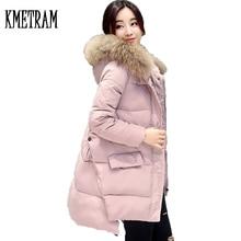 Пальто из искусственного меха енота, женская зимняя куртка, женская тонкая парка средней длины, женские куртки, толстые парки с капюшоном, одежда WUJ0986
