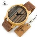 2017 bobo bird reloj de hombre de pulsera de madera de bambú hecha a mano de la marca de lujo relogio masculino c-a23