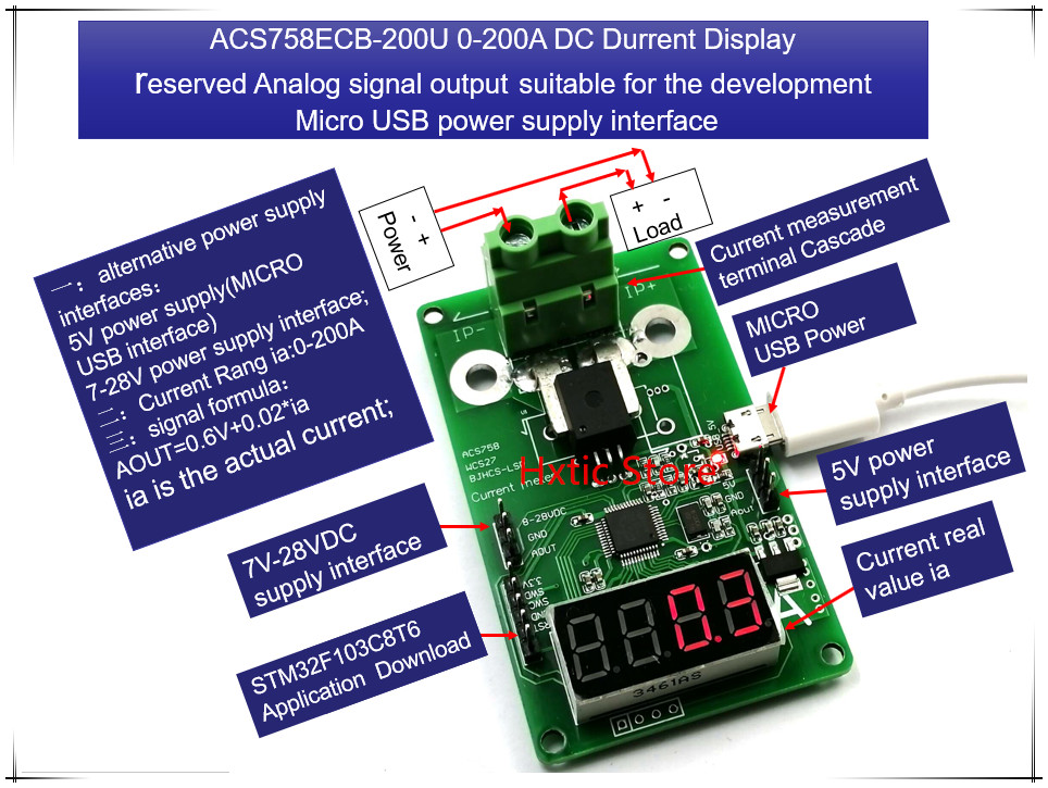 NEW 1PCS LOT ACS758ECB 200U ACS758ECB 200U ACS758 0 200A DC current display meter