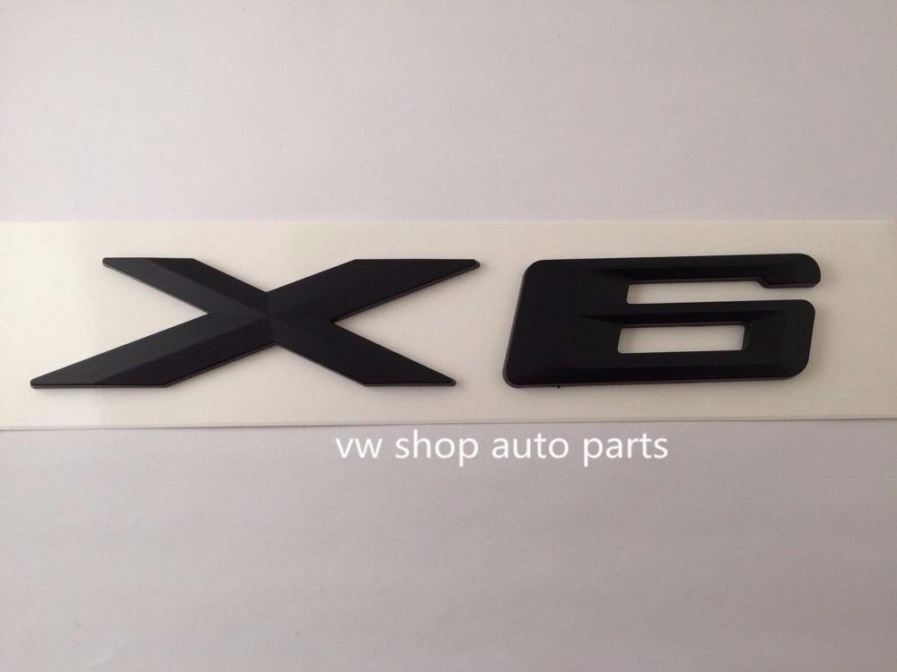 Free shipment for BMW X6 Emblem MATTE BLACK METAL Logo Badge Car Trunk Decal