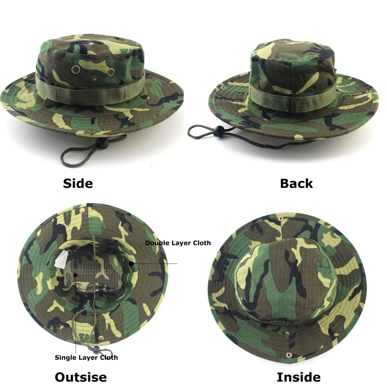 GI Ripstop Boonie Bush Jungle Army Hat Cap Black