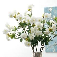 18 köpfe sakura kirschblüten blume zweig Künstliche Blumen flores für Weihnachten home hochzeit dekoration gefälschte Blume fleur