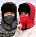 Мужская россии зимнюю шапку для женщин теплые шапки бомбардировщиков с маской открытый лыжи мужчины зимняя шапка уха заслонки с защитой шеи