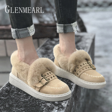 купить Women Flats Loafers Shoes Platform Winter Warm Fur Shoes Casual Round Toe Female Lazy Shoes Brand Slip On Spring Plus Size Black по цене 2638.52 рублей