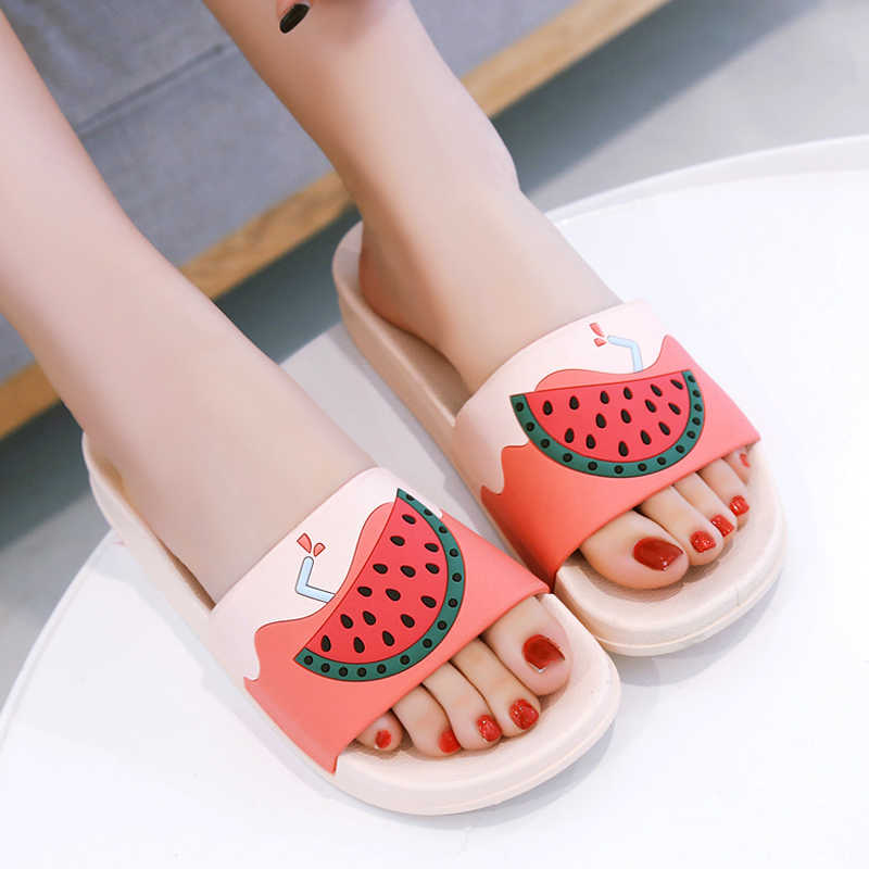 Cartoon Fruit Women Slippers watermelon banana Home Slippers Summer Sandals Slides Women Shoes Flip Flops Sandalias Mujer