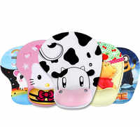Hot Sell Thicken Cartoon 3D Comfy Wrist Mouse Pad For Optical / Trackball Mat Mice Pad Computer Cs Go Gaming Mouse Pad
