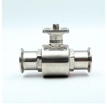 free shipping OD 19~102mm Sanitary Stainless Steel Mirror polishing High Platform Ball Valve Quick Connect with Bracket