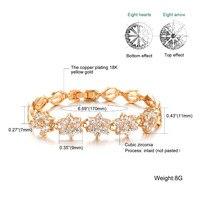 Women Link Chain Bracelets Romantic Flower Design Gold Color 5