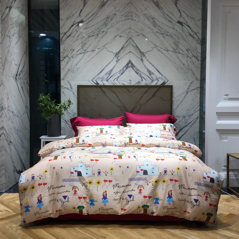 Ribbon embroidery bedspread designs - Fashion Designer Bedding Set King Queen Size Soft Egyptian Cotton Duvet Cover Bed Sheet Bedding Pillowcase