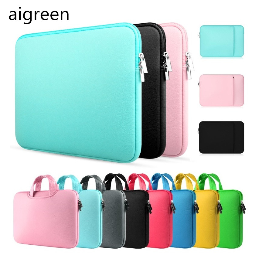 2017 New Brand aigreen Bag For Laptop 11,13,14,15,15.6 inch, Sleeve Case For Macbook Air Pro 13.3,15.4,Free Drop Shipping. hot ladies handbag for laptop 14 for macbook air pro retina 13 3 13 14 1 notebook lady bag women purse free drop shipping