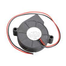 Thermoplastic Material DC 12V Ultra Quiet MID Brushless DC Blower Cooling Blower Fan 2 Wires 5015S Cooler 0.06A 50*15mm Black