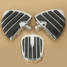 Motorcycle Chrome Brake Pedal Cover Pad Foot Peg Rests For Harley Ultra Limited Road King Softail Dyna ELECTRA STREET Tri GLIDE