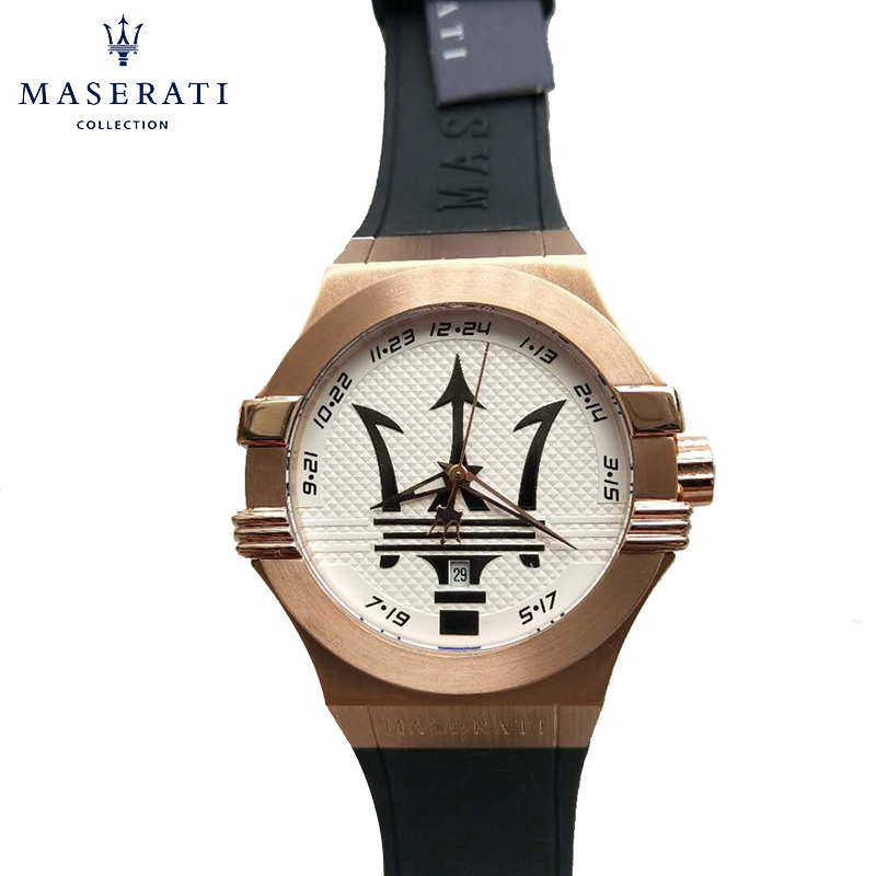Maserati Men Quartz Wristwatches Buckle Waterproof Fashion Watches Horloges Mannen Casual Round Uhren Father Gifts R8956123901 часы maserati