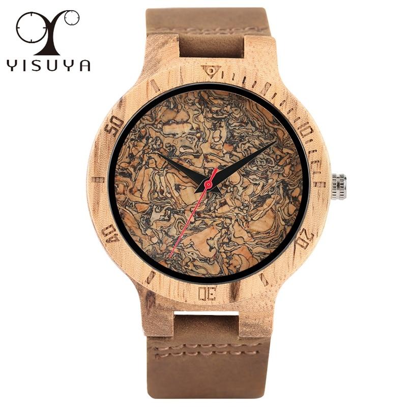 Wood Watches Bamboo Walnut Texture Design Complicate Creative Wooden Watch for Men Women Quartz Wristwatches Xmas Gifts Ulzzang