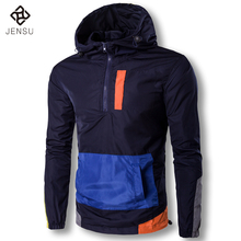 2017 Men Hooded Spring Jackets Pullovers Jaqueta Masculina Sweatshirts Tracksuits Men's Casual Fashion Slim Fit Jackets and Coat