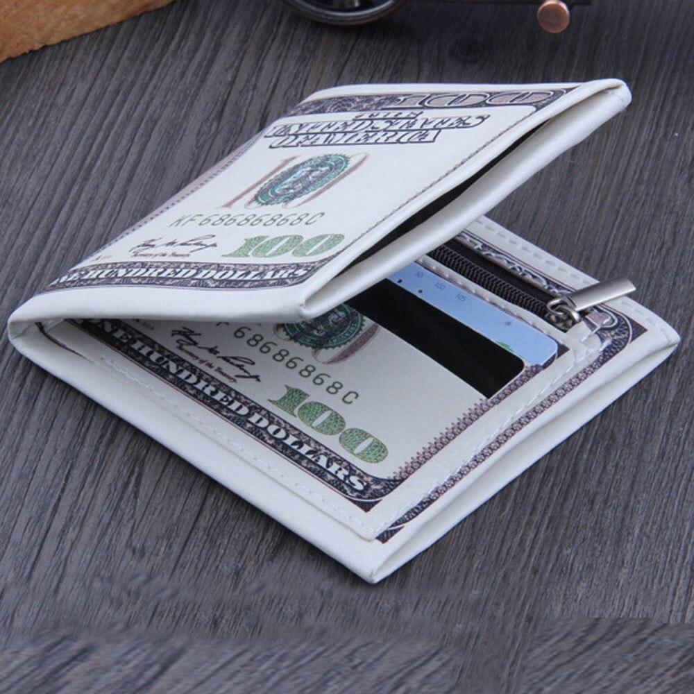 Aelicy2018, модный кошелек для купюр в долларах США, коричневый кожаный кошелек, бумажник для кредитных карт, фото, кожаные кошельки, мужские кошельки, 100 $, держатель для монет