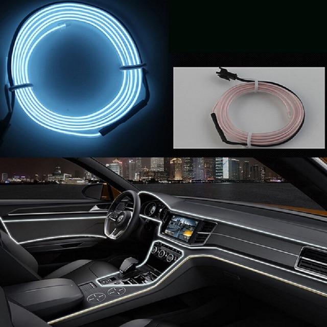 Dc12v decoraci n atm sfera l mparas interior del coche luz fr a tiras flexibles 3 m encendedor - Decoracion interior coche ...
