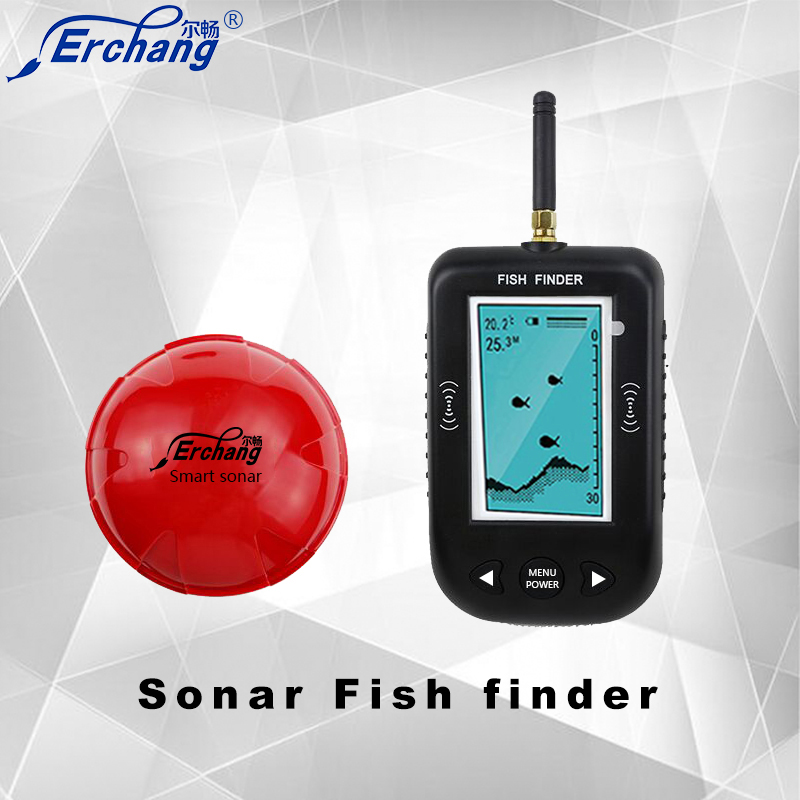 Erchang portable fish finder underwater sonar fishfinder for Ice fishing fish finders