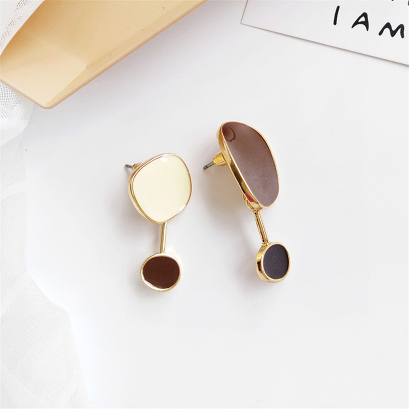 Contracted temperament new earrings bump color female  earrings irregular earrings earrings restoring ancient ways 1