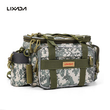 40*15*19cm Canvas Fishing Bag Multi-function Outdoor Waist Shoulder Bag Pesca Fishing Reel Hook Storage Bag Fishing Tackle Tool