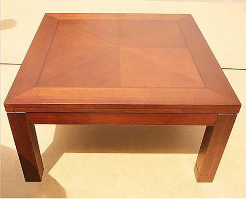 Kotatsu Table Square 80cm Walnut Color Reversiable Top Asian Living Room  Furniture Wooden Low Foot Warmer