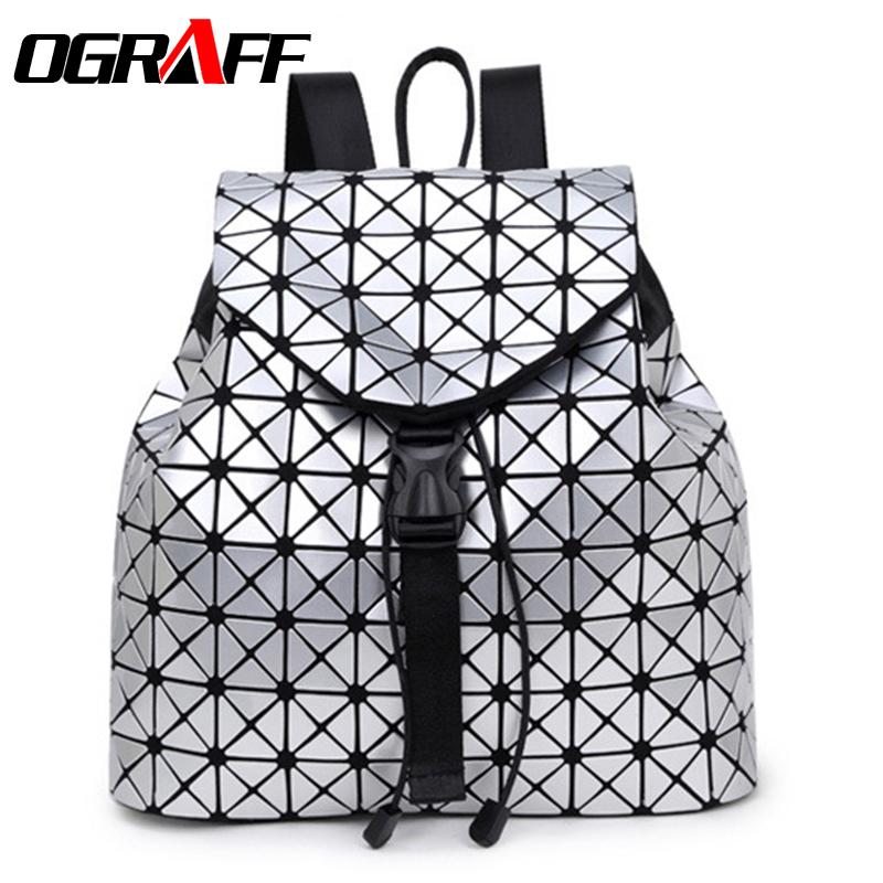 Prix pour OGRAFF Designer sac à dos femmes sac d'école 2017 sacs à dos pour adolescente filles célèbre marque sac à dos en cuir noir de haute qualité