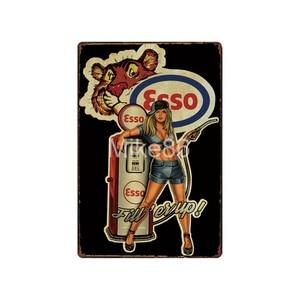Image 2 - [ Mike86 ] Motor oil TEXACO ESSO  Tin Sign Vintage Hotel Pub Retro Mural Iron Painting art Poster Art 20*30 CM LT 1730