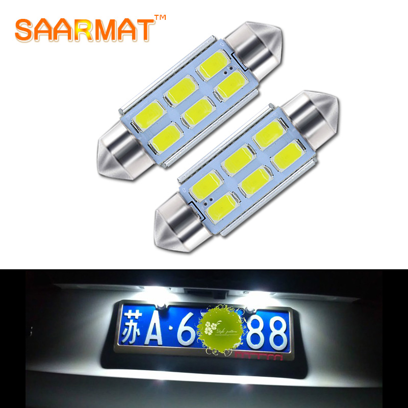 2Pcs C5W 36mm Canbus License Number Plate Light <font><b>LED</b></font> Bulb For <font><b>AUDI</b></font> A2 A3 8L 8P <font><b>A4</b></font> <font><b>B5</b></font> B6 A6 4B 4F A8 D2 TT Q3 Q5 Q7 C5 C6 C7 S2 S4 image