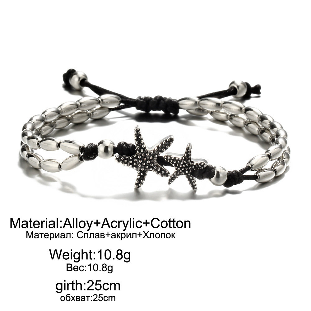 New Fashion Retro Style Starfish Pendant Anklets Vintage Chain Beach Foot Chain Anklet Bracelets for Women Bohemian Jewelry in Anklets from Jewelry Accessories