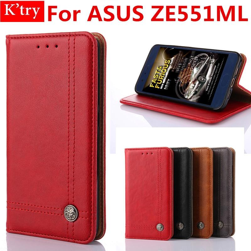 Soft Silicon Book Style Kickstand Wallet Case For ASUS Zenfone 2 (5.5) ZE551ML Flip Bag Fundas