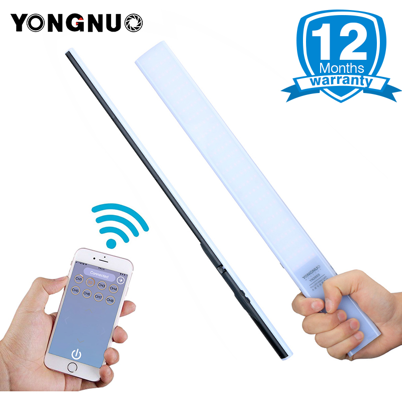 YONGNUO Updated YN360S Ultra-thin Handheld Ice Stick LED Video Light 3200k to 5500k Phone App Control LED Fill Lighting Stick