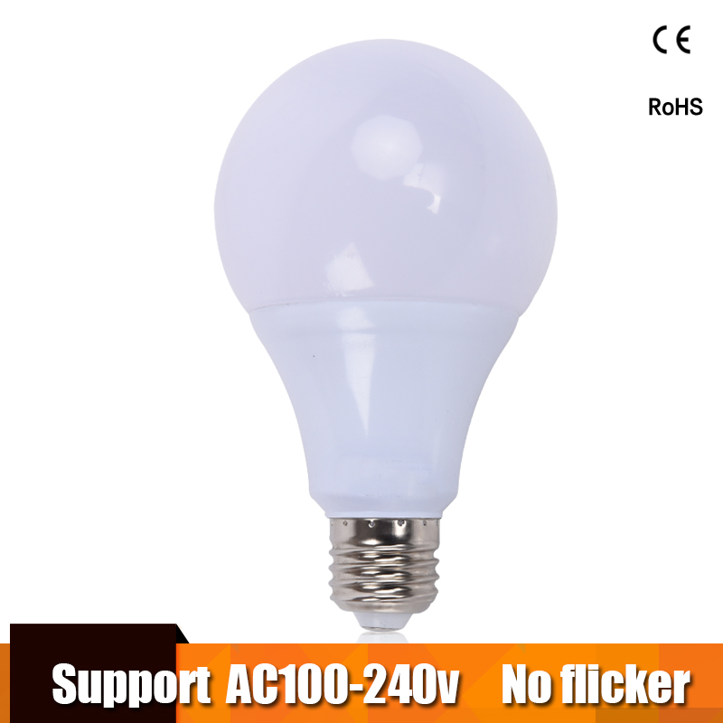 <font><b>LED</b></font> Bulb Lamps E27 lampara 100V 110V <font><b>220V</b></font> 240V Light Bulb Real Power 3W 6W 9W 12W <font><b>15W</b></font> 18W 21W Lampada <font><b>LED</b></font> Bombillas image