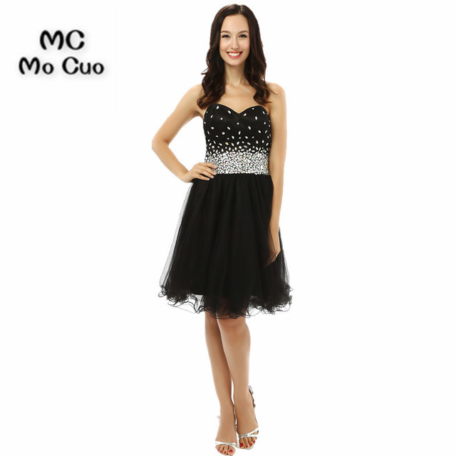 2017 Homecoming Dress Cheap 8th Grade Prom Dresses A Line Crystals