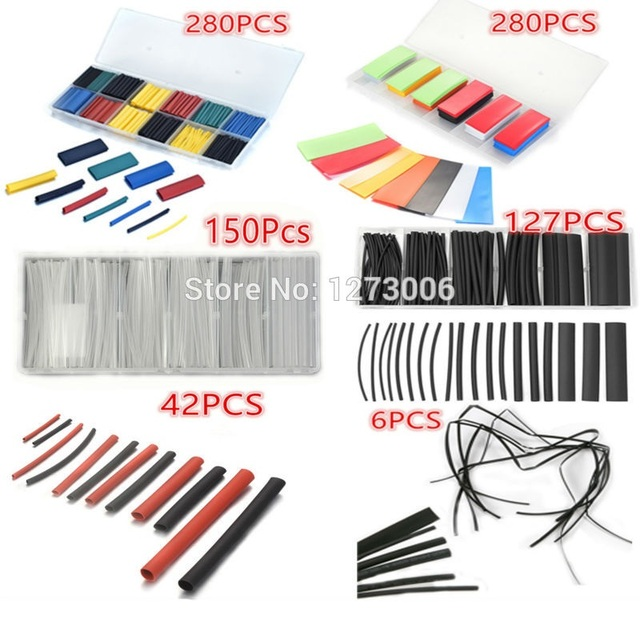 US $3 61 |Universal 6 Types Assorted PE/PVC/ Polyolefin Heat Shrink Tubing  Car Electrical Insulation Cable Wrap Wire Kit Car styling HOT-in Battery