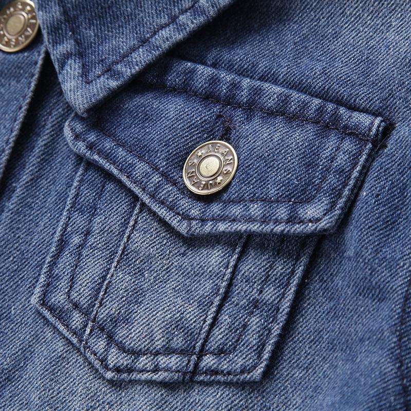 e97e7f51837 Detalles acerca de otoño niño Denim chaqueta para niños de primavera niños  de chaqueta cortavientos patchwork Denim Chaquetas niños ropa BC081 en  Chaquetas ...