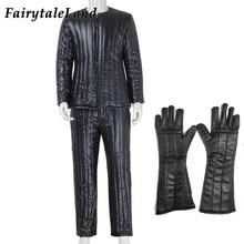 Star Wars Darth Vader cosplay costume Halloween adult Top pants black leather suit