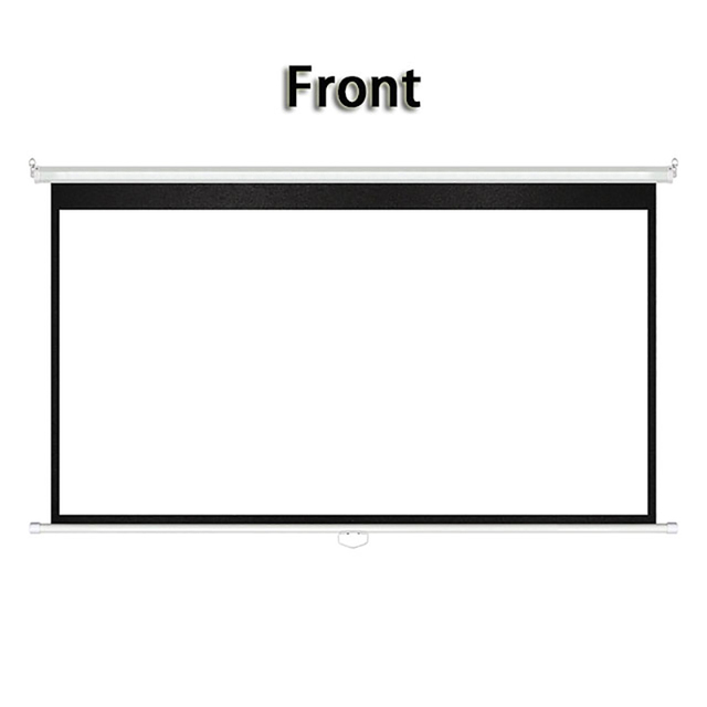 Thinyou 72 inch 4:3 Matte White Manual self-locking Projector Screen Pull Down Screen Wall Mount For 3D Projector Cinema School