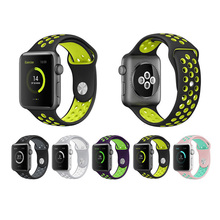 Silicone Strap For Apple Watch Band 38/42mm Bracelet Watchband For Apple Watch Strap Rubber Iwatch Band 4/3/2 Sport Wris цена и фото